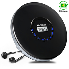 Portable Music CD Player with In-Ear Headphones, 16 Hours Rechargeable Battery, Support Super Anti-shock, Multiple Audio Formats