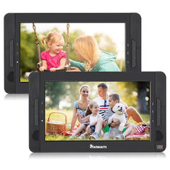 Naviskauto 10.1 Headrest DVD Player with Dual Screens, Multiple External Device Interfaces, Region Free and Last Memory