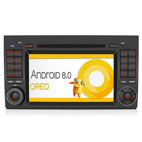 "Android 8.0 Car Stereos for Benz B200 Series 7"" Touchscreen Octa-Core Support Bluetooth Call /Audio Play And Support Output Almost Everything To The Headrests"