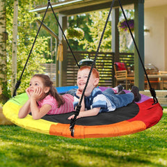 700lb 40 Inch Flying Saucer Tree Swing with 900D Oxford Waterproof
