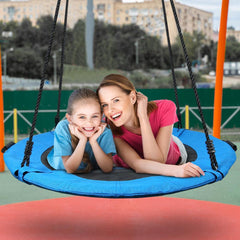 40 Inch Textliene Blue Saucer Tree Swing for Kids Adults