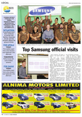 Top Samsung official visits
