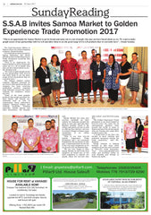 S.S.A.B invites Samoa Market to Golden Experience Trade Promotion 2017