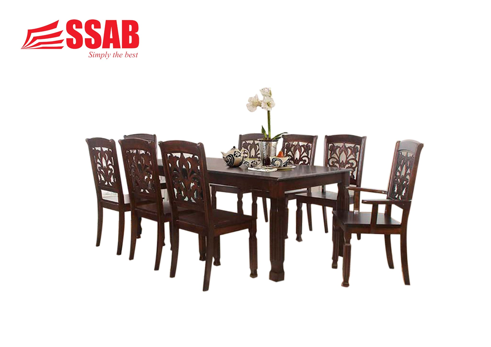 CANSSAB Fathia 8 Seater Dining Set