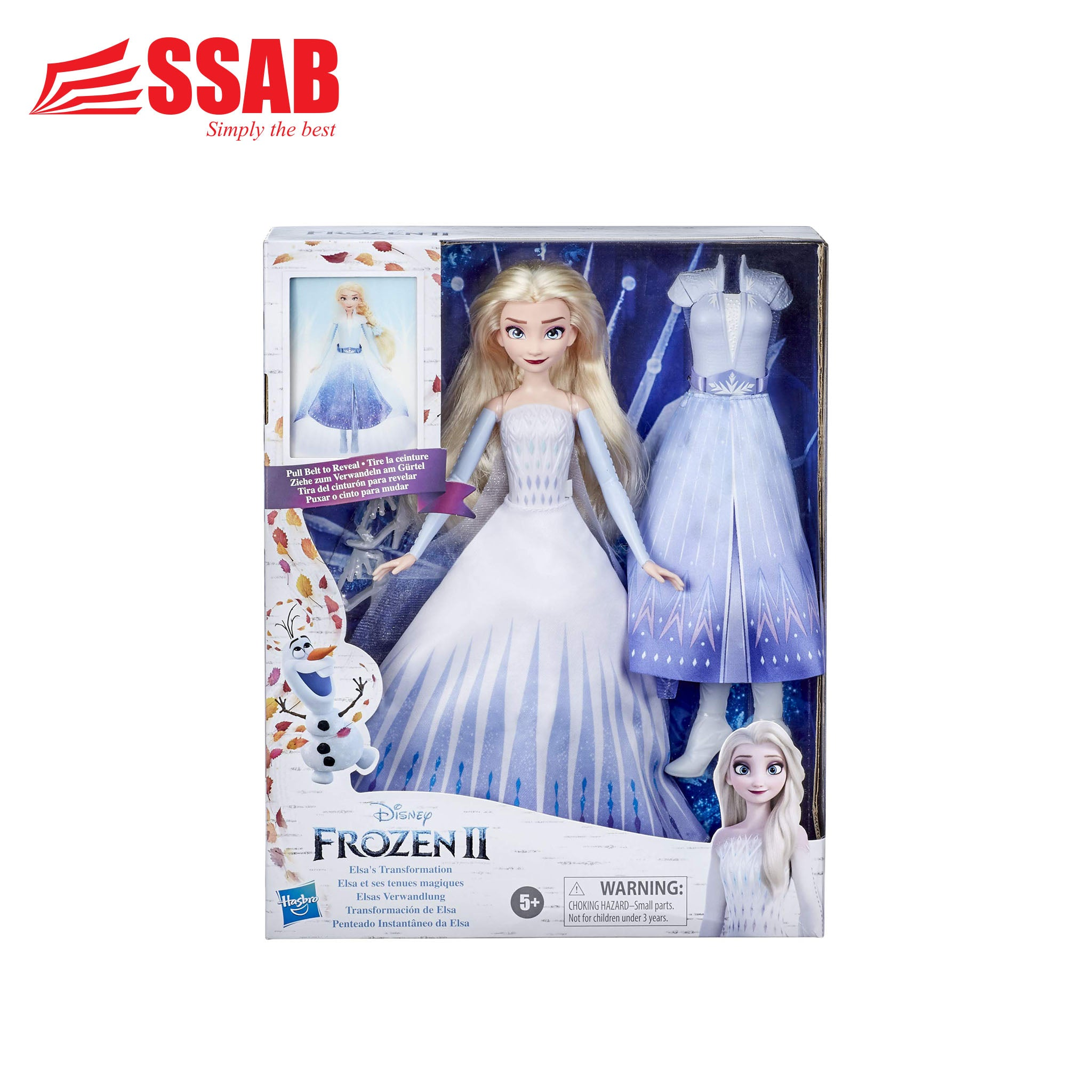 Hasbro Frozen II Pull Belt to Reveal Elsa