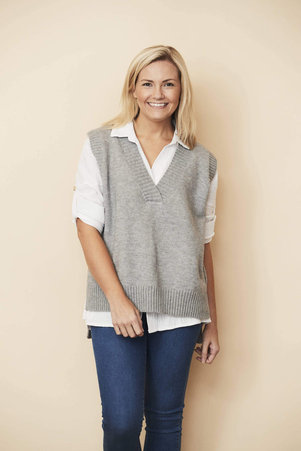ZADIE VEST GREY - Maiden Avenue | Womens Fashion Boutique | Jannali Sydney