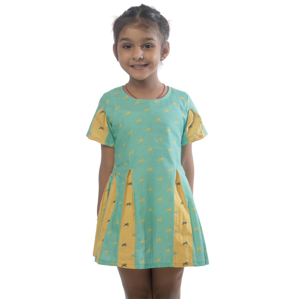 Calm Palm Godet Dress