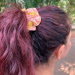 Apricot Blooms Scrunchie