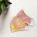 Apricot Blooms Reversible Mask