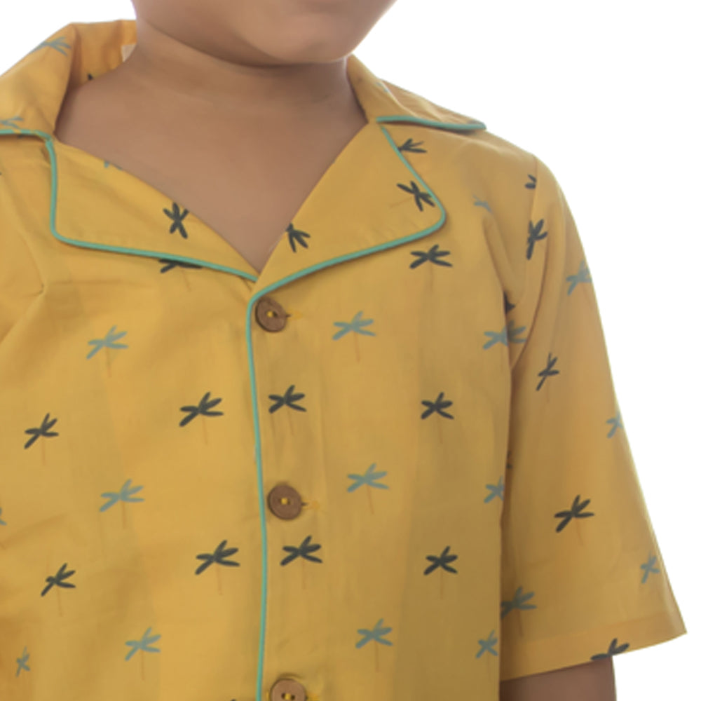 Sunny Palm Hawaiian Shirt