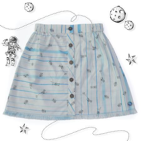 Astronaut Button-Up Skirt