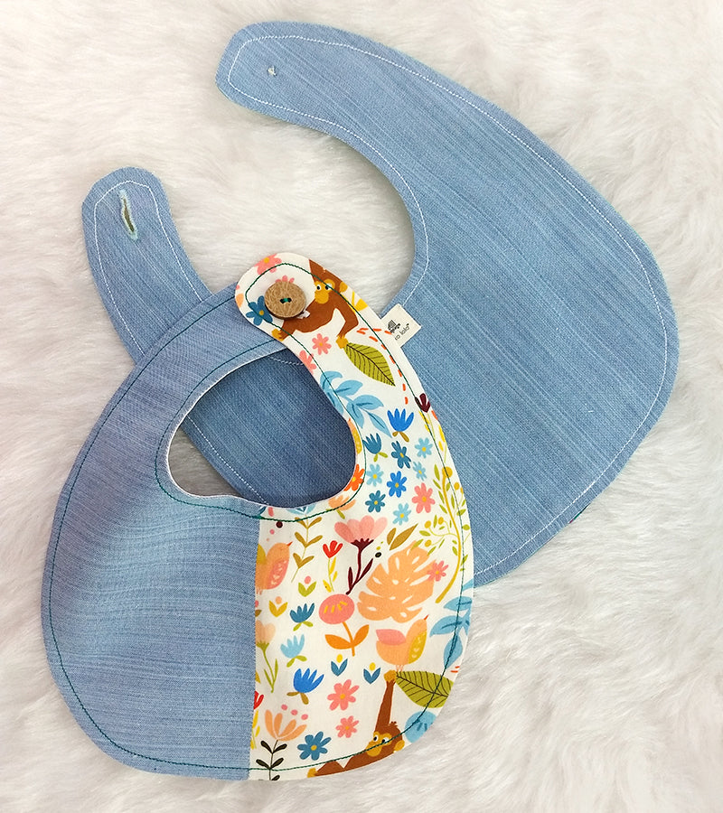 Organic Cotton Patchwork Bib