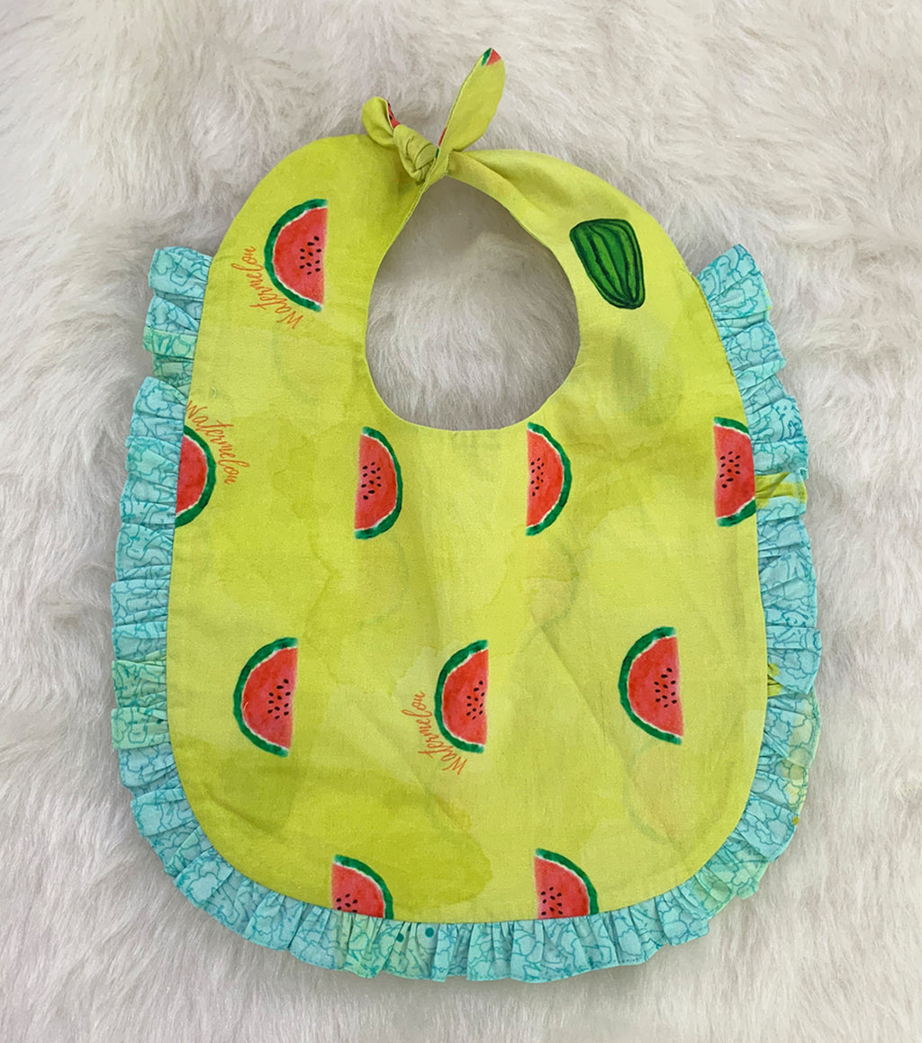 Veggies and Fruits Knotted Bib