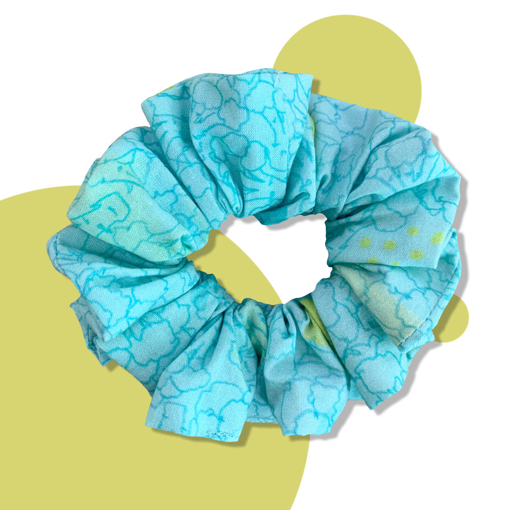 Blue Broccoli Upcycled Scrunchie