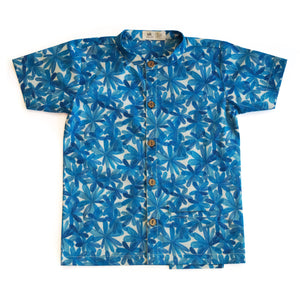 Blue Blooms Shirt