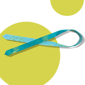 Teal Salad Reversible Tie-Up Headband