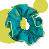 Teal Salad Upcycled Scrunchie