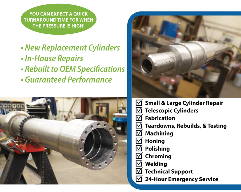 Hydraulic Cylinder Repair Greenville South Carolina, Charleston South Carolina, Augusta Georgia