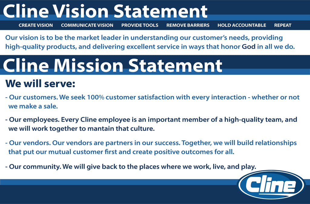Cline vision and mission statement