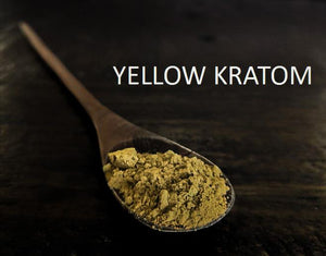 Yellow kratom strains as powders or capsules for sale