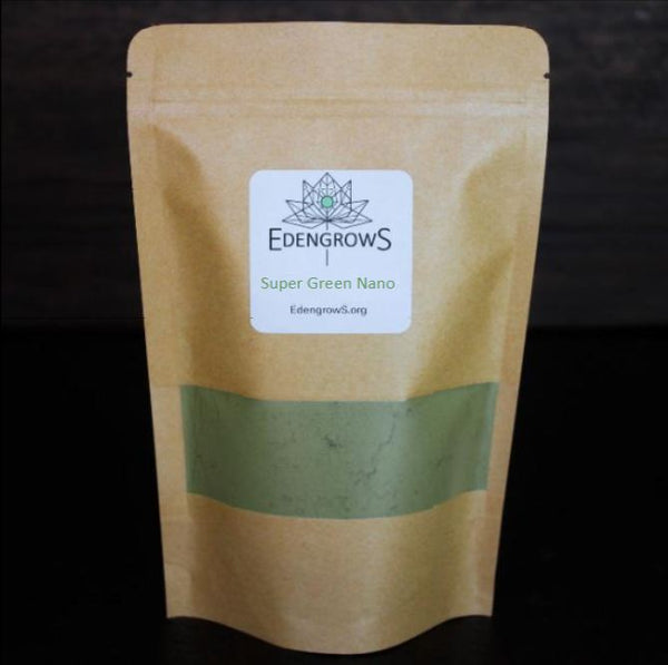 Super green nano leaf powder in a fresh keeping sealed bag for shipping purpose