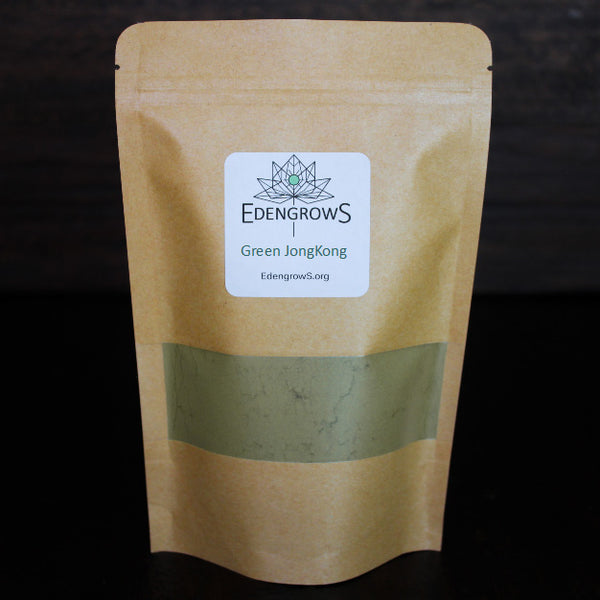 Green jongkong powder packed in fresh keeping sealed bags for shipping