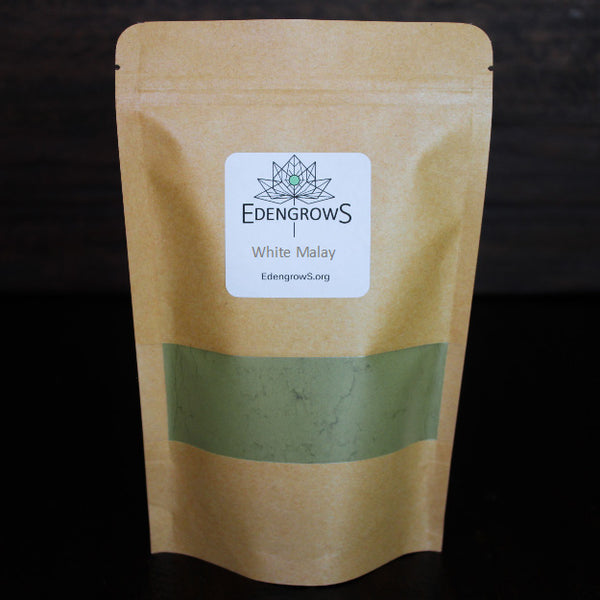 High quality kratom white malay powder in a fresh keeping sealed bag for shipping