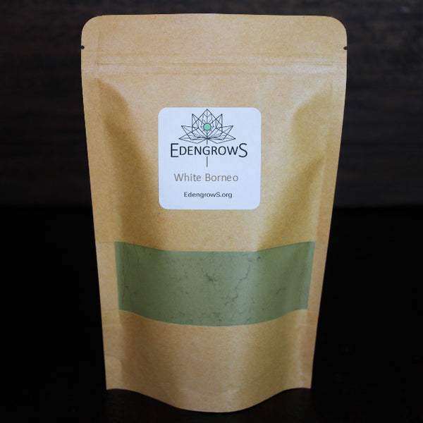 High quality white borneo plant powder in a fresh keeping sealed bag for shipping