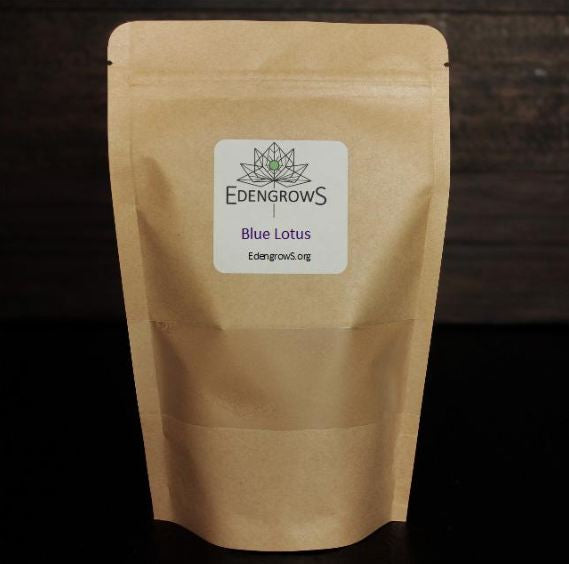 Edengrows blue Lotus grinded fine powder in fresh sealed bag for sale