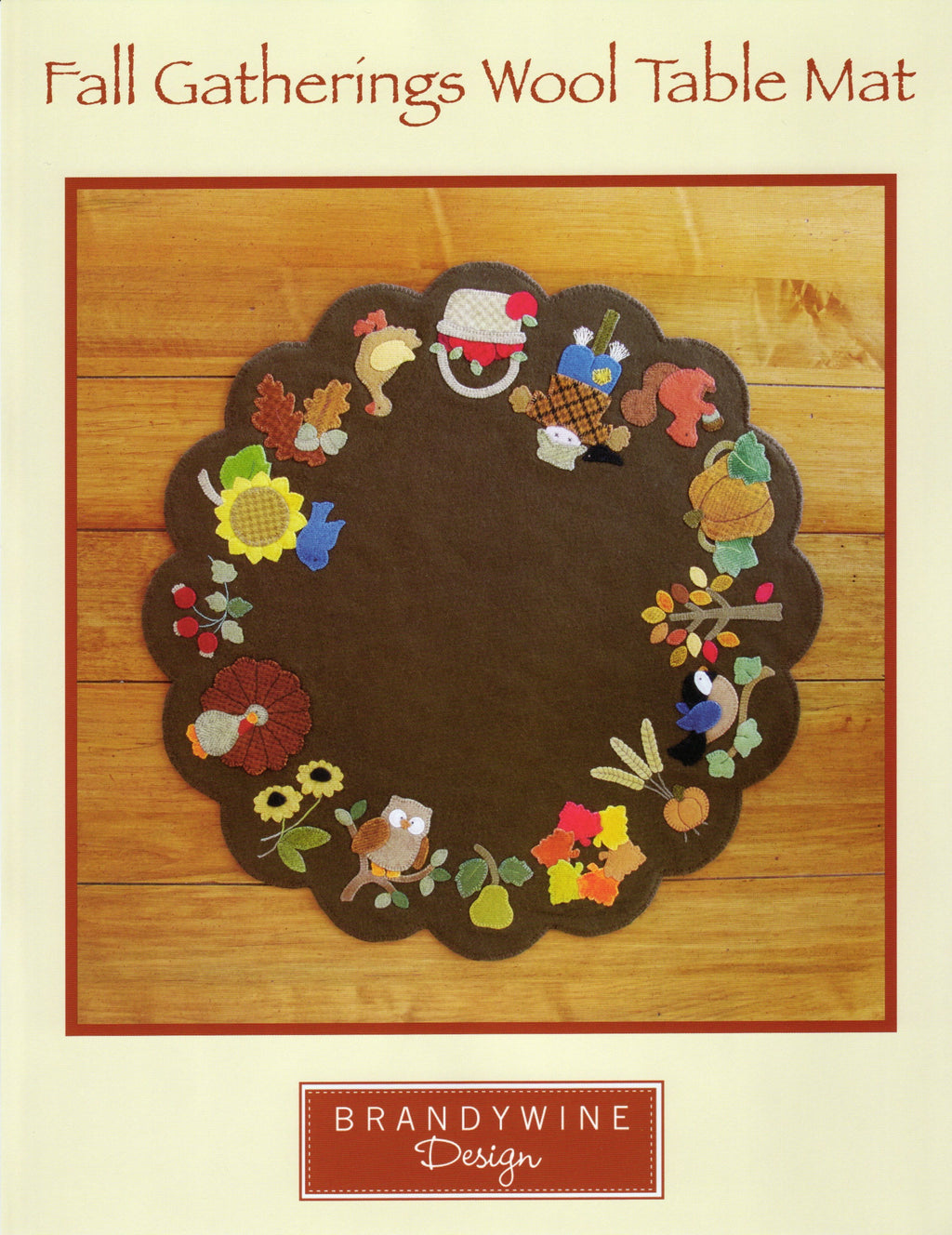 Fall Gatherings Wool Table Mat