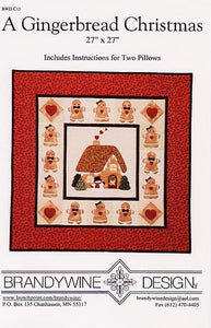 Gingerbread Christmas: Quilt + 2 Pillows