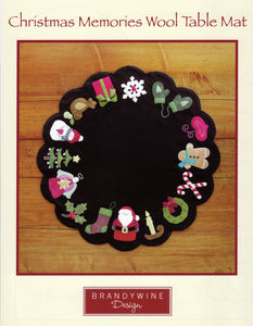 Christmas Memories Wool Table Mat