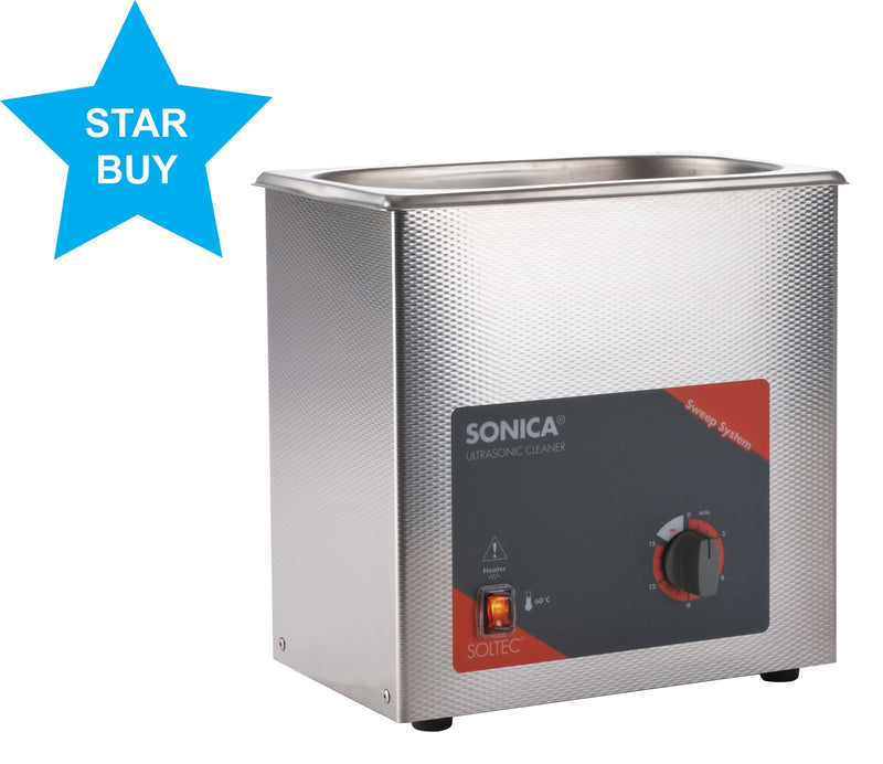 Sonica 2200 MH S3 Ultrasonic Cleaner 3 litre with Heater
