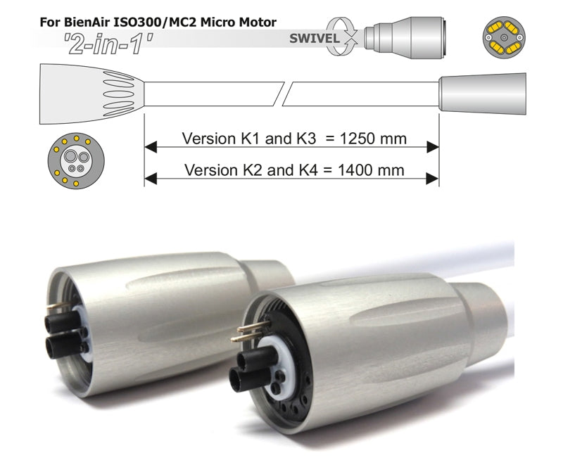 Denlux Kavo Compatible Tubing for Bien Air ISO300-MC2 Micro Motor