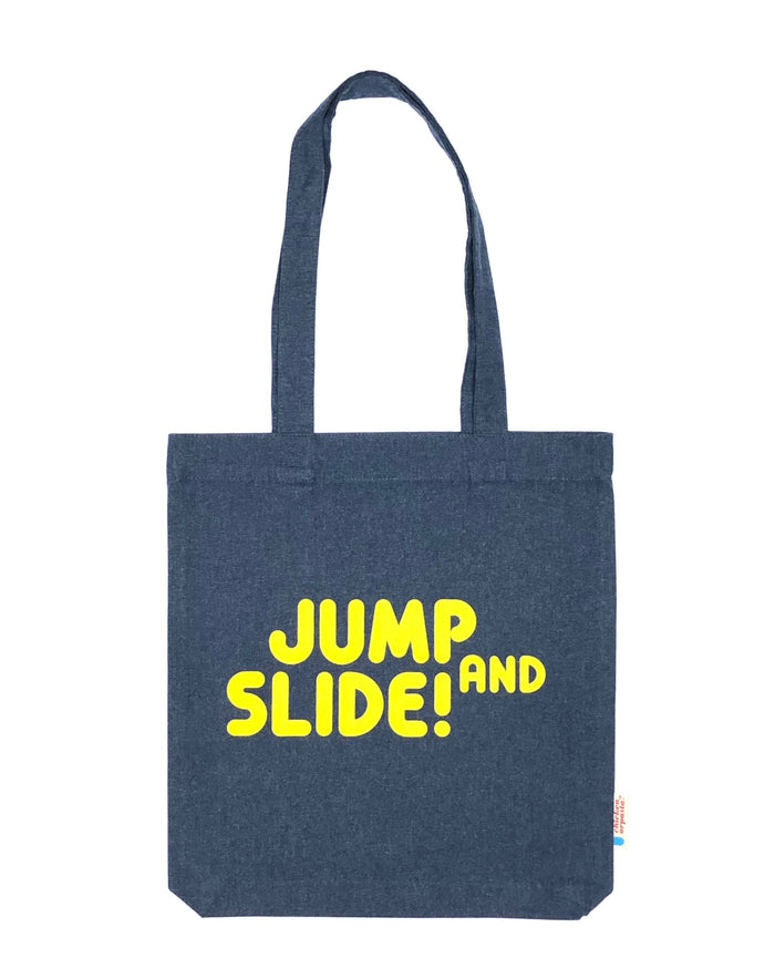 """Jump & Slide!"" - Tote bag - IN 3 COLOURS."