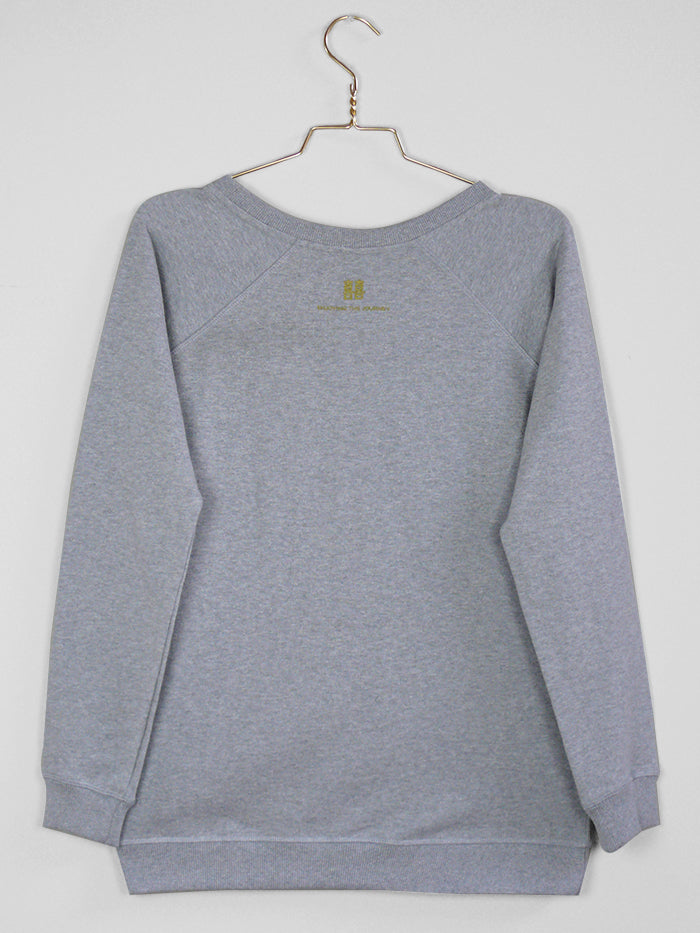 Woman's Sweater, Boat Neck, Light Heather Grey