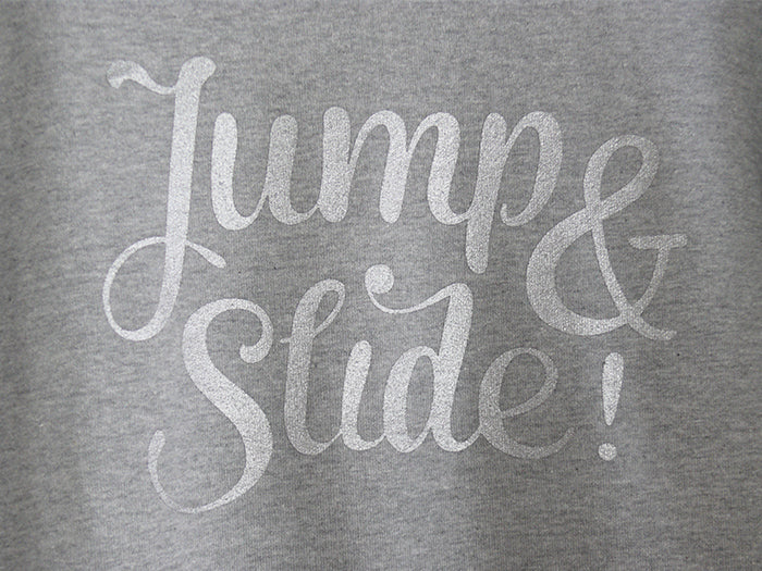 "THE ORIGINAL COLLECTION. ""Jump & Slide!"" Woman's Sweater, Boat Neck, Light Heather Grey"