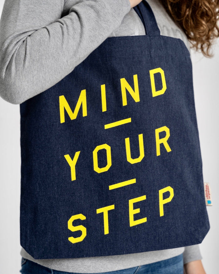 """Mind Your Step"" - Tote Bag - IN 3 COLOURS!"
