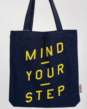 "Load image into Gallery viewer, ""Mind Your Step"" - Tote Bag - IN 3 COLOURS!"