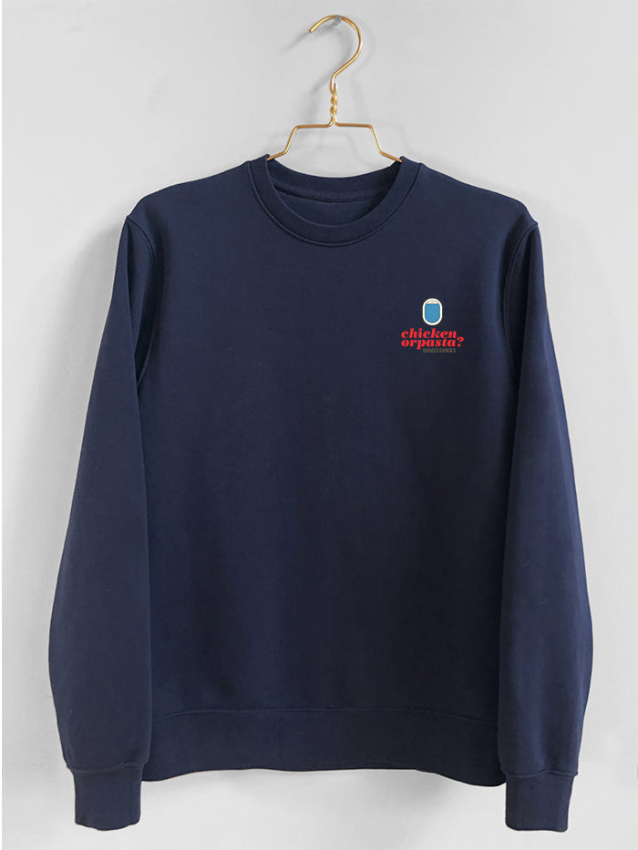 Unisex Sweater, Crew Neck, Navy Blue