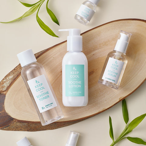 Keep Cool Bamboo Soothe Toner, Serum and Lotion