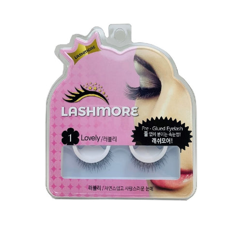 Lashmore #1 Lovely, Pre-Glued Eyelash - Justrend.sg