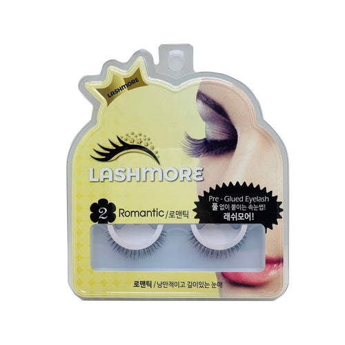 Lashmore #2 Romantic, Pre-Glued Eyelash - Justrend.sg