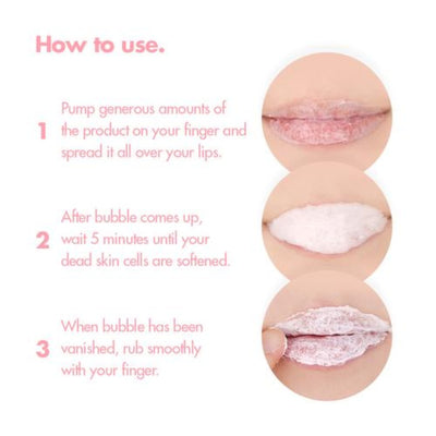Unpa Bubi Bubi Lip - Soft Bubble Lip Scrub - Justrend.sg