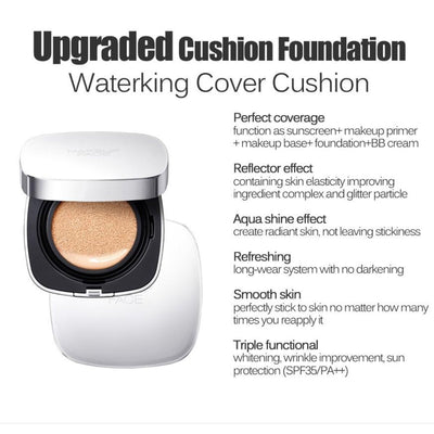 Nakeup Face Waterking Cover Cushion for Dry Skin - Justrend.sg