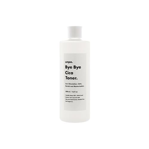 Unpa Bye Bye Cica Toner - Hypo-allergenic Toner with 80% Centella Water - Justrend.sg