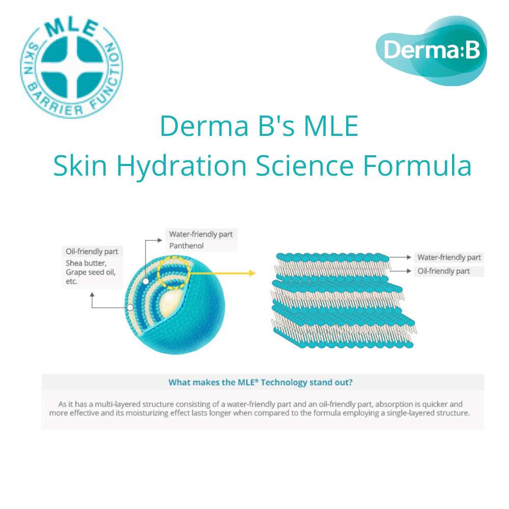 Derma B Mild Moisture Body Lotion, fragrance free, 400ml - Justrend.sg