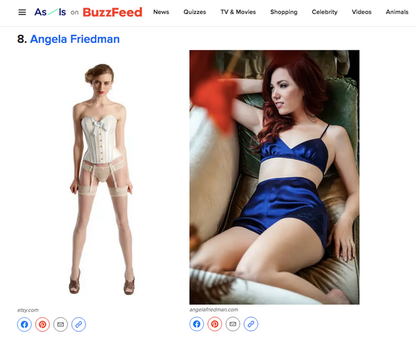 Vintage and retro lingerie shopping guide on Buzzfeed