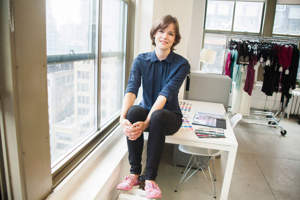 Behind the scenes with lingerie designer Angela Friedman in her New York showroom
