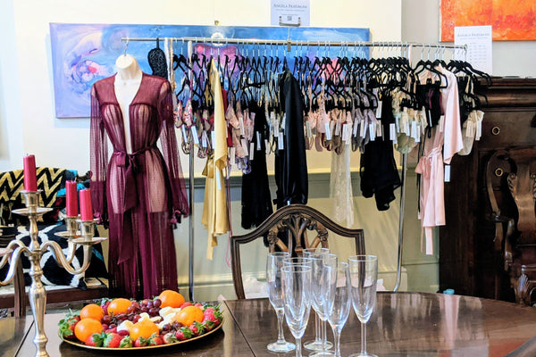 Robes and silk lingerie pop up shops and trunk shows